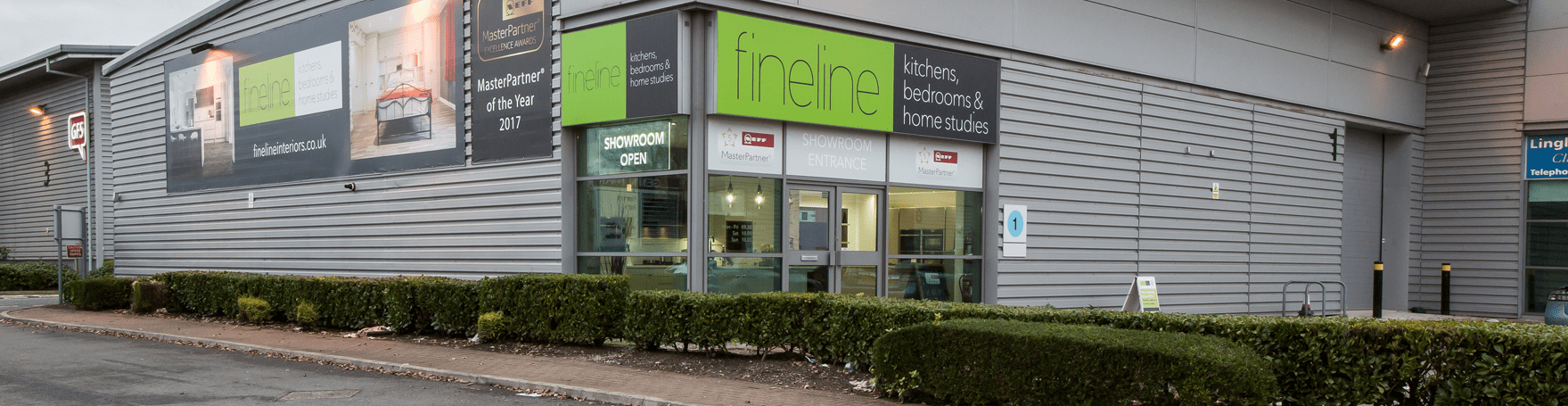 fineline Warrington kitchen showroom