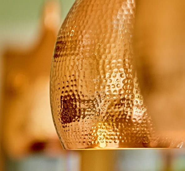 copper lampshade